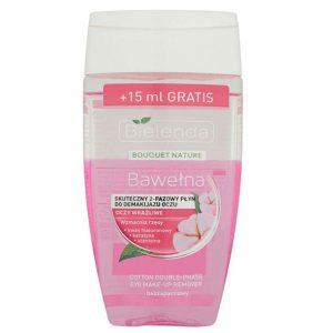 پاک کننده آرایش دو فاز عصاره پنبه بی یلندا مناسب پوست های خشک و حساس