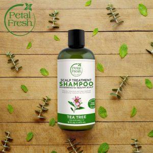 شامپو تقویت کننده و ضدریزش پتال فرش حاوی عصاره درخت چای(مناسب موهای چرب)
