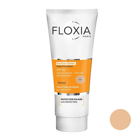 امولسیون ضد آفتاب SPF50 رنگی فلوکسیا